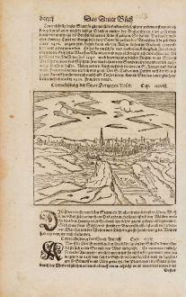 Antike Landkarten, Münster, Niederlande, Herzogenbusch, Mechelen, 1574: Contrafehtung der Statt Hertzogen Bosch / Mechel