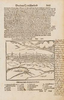 Antike Landkarten, Münster, Belgien, Flämisch-Brabant, Leuven, Louvain, 1574: Contrafehtung der Statt Löven
