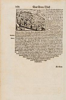 Antike Landkarten, Münster, Deutschland, Rheinland-Pfalz, Zweibrücken, 1574: Zweybruck / Bitsch