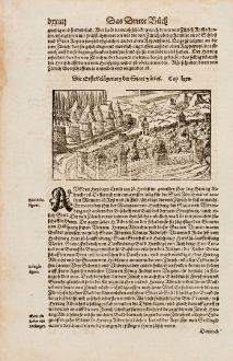 Antique Maps, Münster, Switzerland, Zürich, Zurich, 1574: Die Erste Belagerung der Statt Zürich