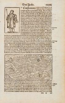 Antike Landkarten, Münster, Türkei, Konstantinopel, Istanbul, 1574: Constantinus / Constantinopel