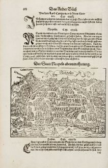 Antique Maps, Münster, Italy, Napoli, 1574: Neapolis / Der Statt Neaples abcontrafhetung