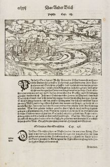 Antique Maps, Münster, Italy, Lombardy, Pavia, 1574: Paphy / Papia