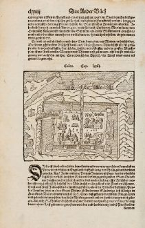 Antique Maps, Münster, France, Arras, Calais, 1574: Cales / Arras