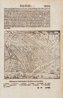 Antike Landkarten, Münster, Niederlande, Amsterdam, 1574: [Amsterdam]