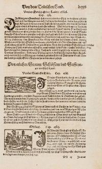 Antique Maps, Münster, France, Alsace, Haut-Rhin, Ensisheim, 1574: Von der Statt Einsheim