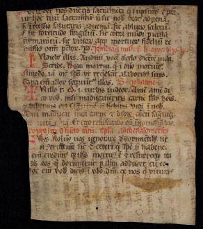 Grafiken, Anonymous, Mittelalterliches Palimpsest, 1100 (1300): Palimpsest 1100 / 1300