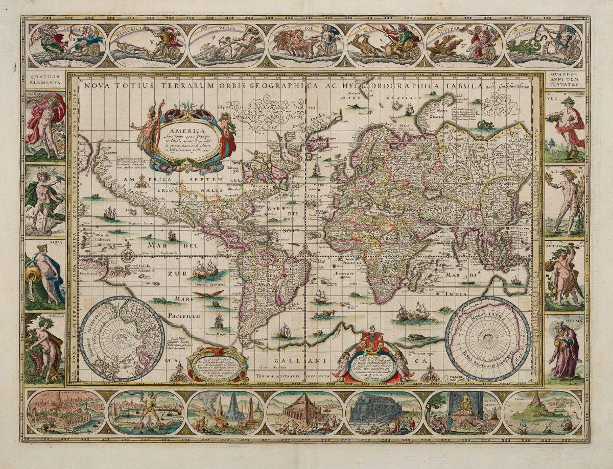 World maps antique maps and historical atlases gtzfried antique blaeu world maps 1643 50 nova totius terrarum orbis geographica ac hydrographica gumiabroncs Gallery
