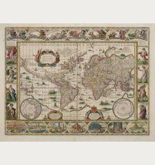 Nova Totius Terrarum Orbis Geographica ac Hydrographica Tabula auct: Guiljelmo Blaeuw.
