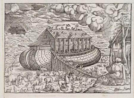 Grafiken, de Belleforest, Arche Noah, 1575: [Noah's Ark]