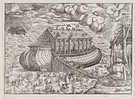Graphics, de Belleforest, Noah s Ark, 1575: [Noah's Ark]