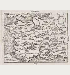 De la Gaule et de la situation d'icelle, item de la division. peuples, villes, montagnes...