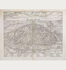 Pourtraict ou plan de la ville de Chartres