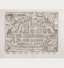 Pourtraict ou plan de la ville de Chasteaudun