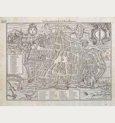La Ville d'Auxerre en Bourgogne / Pourtraict ou Plan de la Ville d'Auxerre