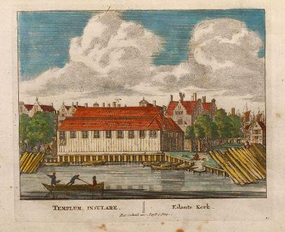Antique Maps, Schenk, Netherlands, Amsterdam, Templum Insulare, 1700: Templum Insulare