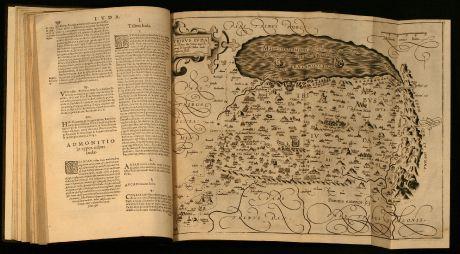 Books, Adrichem, Palaestine, Holy Land, 1593: Theatrum Terrae Sanctae et Biblicarum Historiarum. Cum tabulis geographicis aere expressis