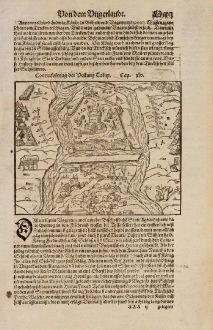Antique Maps, Münster, Austria - Hungary, Gyula, Tokaj, Sarospatak, Castle Rakoczi: Contrafehtung der Vestung Tokay / Contrafehtung der Vestung Jula