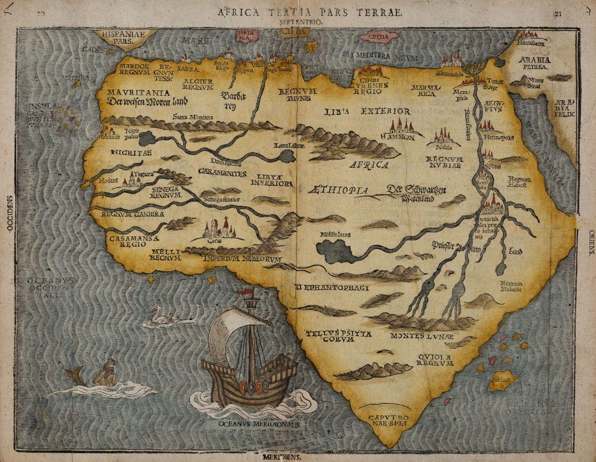 Africa - Bünting, Heinrich - Africa Tertia pars Terrae