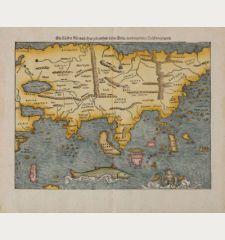 Die Länder Asie nach ihrer gelegenheit bisz in India, werden in diser Tafel verzeichnet