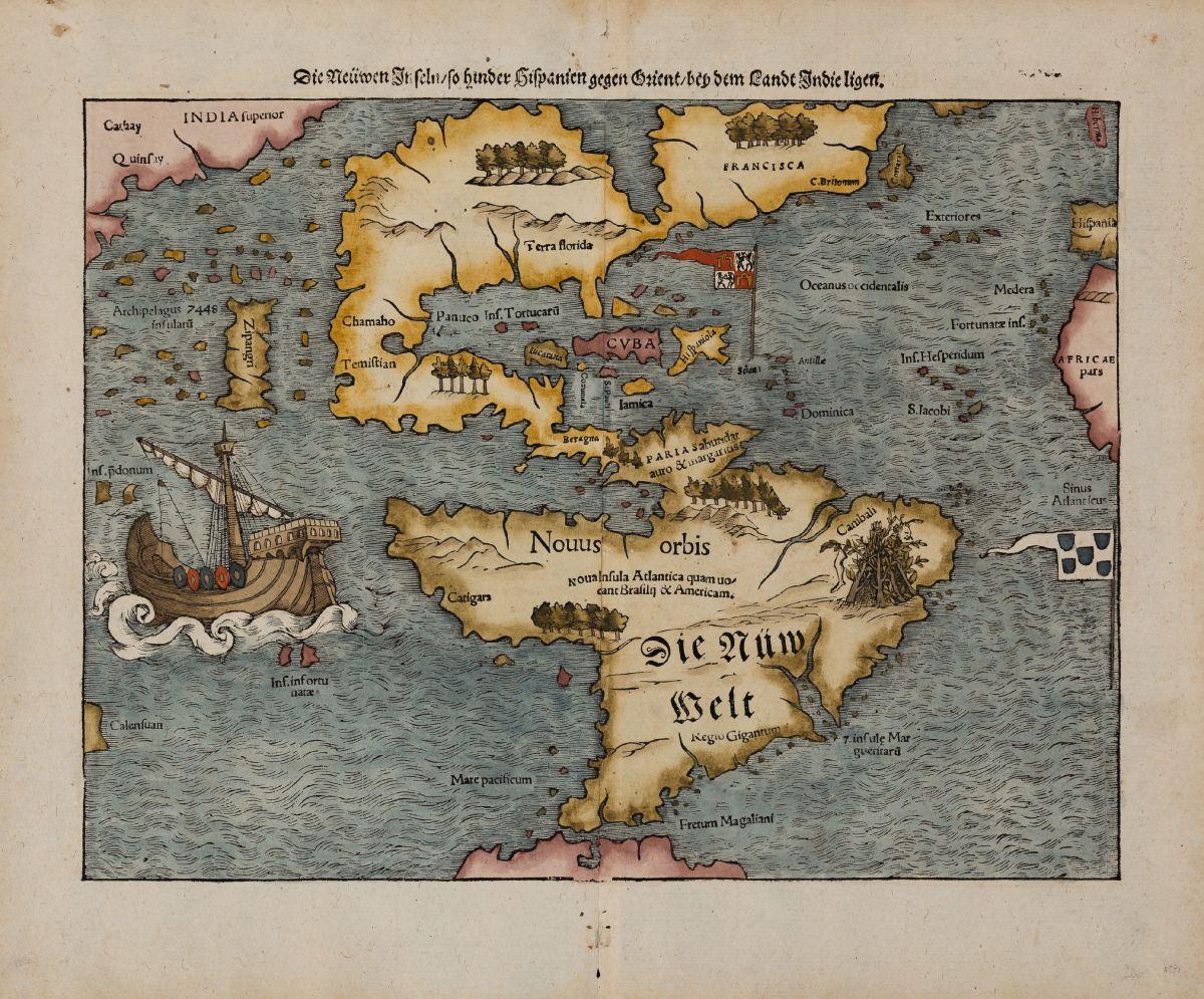 Antike Landkarten und alte Atlanten von Sebastian Münster ...