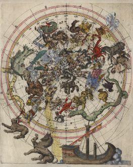 Antike Landkarten, Anonymous, Nördlicher Sternenhimmel, vor 1569: [Celestial Chart - Himmelskarte]