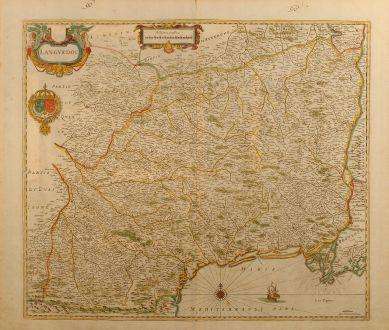 Antike Landkarten, Janssonius, Frankreich, Languedoc, 1650: Languedoc