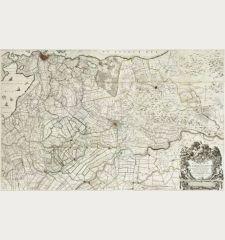 Nieuwe kaart van den lande van Utrecht ...doen meten, en in kaart brengen, door Bernard du Roy ...