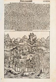 Antique Maps, Schedel, Turkey, Istanbul, Constantinople, 1493: Constantinopolis