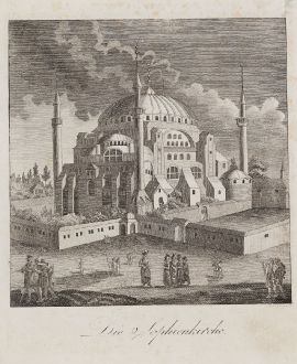Antike Landkarten, Schindelmayer, Türkei, Istanbul, Konstantinopel, Hagia Sophia: Die Sophienkirche