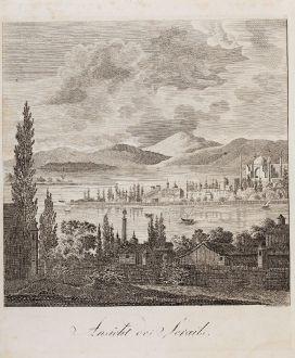 Antike Landkarten, Schindelmayer, Türkei, Istanbul, Konstantinopel, Topkapi Saraj: Ansicht des Serails