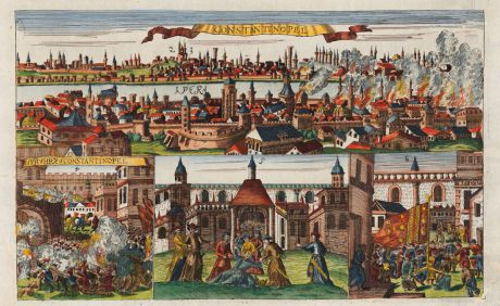 Antike Landkarten, Boethius, Türkei, Istanbul, Konstantinopel, 1688: Constantinopel