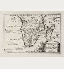 Partie Meridionale d'Afrique ou se Trouvent la Basse Guinee, la Cafrerie, le Monomotapa, le Monoemugi, le Zanguebar et...