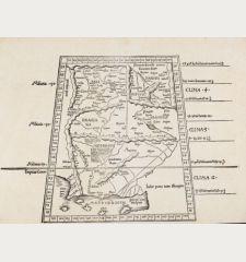 Tabula Nona Asia Continentur, Aria
