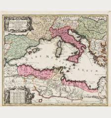 Mare Mediterraneum, juxta Regna et Provincias, quas Alluit Distinctum et Cognominatum