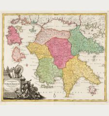 Peloponesus hodie Moreae Regnum in Omnes suas Provincias Veteres et Hodiernas Accurate Divisum