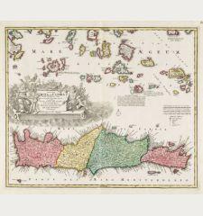 Insula Creta hodie Candia in sua IV Territoria Divisa ...