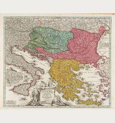 Fluviorum in Europa Principis Danubii cum Adiacentibus Regnis, nec non Totius Graeciae et Archipeliagi Novissima Tabula