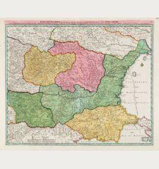 Danubii Fluminis (hic ab Urbe Belgrado ...) Pars Infima in qua Transylvania, Walachia, Moldavia, Bulgaria, Servia, Romania...