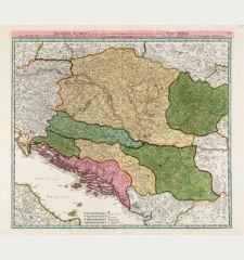 Danubii Fluminis ... Pars Media in qua Hungaria, Sclavonia, Bosnia, Dalmatia et Servia ...