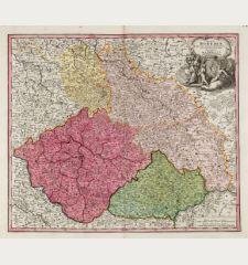 Regni Bohemiae, Ducatus Silesiae, Marchionatus Moraviae et Lusatiae. Tabula Generalis