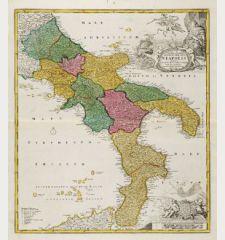 Novissima & Exactissima Totius Regni Neapolis Tabula ...