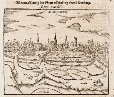Antike Landkarten, Münster, Deutschland, Niedersachsen, Stade, 1574: Aldenburg [Aldenbvrg]