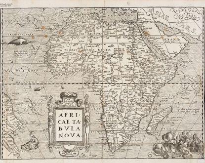 Antique Maps, de Belleforest, Africa Continent, 1575: Africae Tabula Nova
