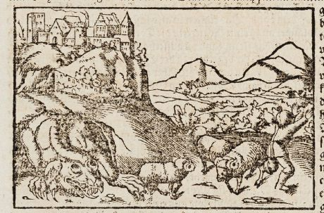Antike Landkarten, Münster, Polen, Drachen, Krakow, 1574: Crakow en Statt