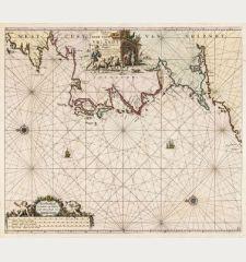 Paskaart van de West Cust van Yrlandt beginnnende van Klady tot aen de Blasques ...