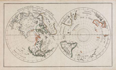 Antike Landkarten, Anonymous, Weltkarten, 1770: Aequator sive linea Aequinoctialis