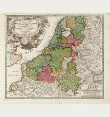 Tabula generalis totius Belgii qua Provinciae XVII Infer. Germania olim sub S.R.I. Circula Burgundiae ...