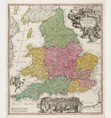 Magnae Britanniae Pars Meridionalis in qua Regnum Angliae tam in Septem Antiqua Anglo-Saxonum Regna ...