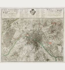 Carte Topographique des Environs & du Plan de Paris ... Karte von der Gegend und Gundris der Stadt Paris ...